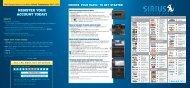 Ford Mustang 2010 - Sirius Satellite Radio Information Card Printing 1 (pdf)