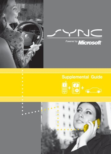 Ford Explorer Sport Trac 2008 - SYNC Supplement Printing 1 (pdf)