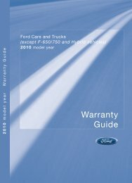 Ford Flex 2010 - Warranty Guide Printing 4 (pdf)