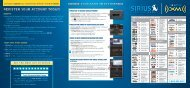 Ford Mustang SVT 2011 - Sirius Satellite Radio Information Card Printing 1 (pdf)