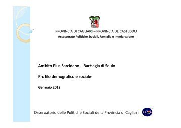 Profilo Plus Sarcidano Barbagia Seulo 2011 - Sociale - Provincia di ...