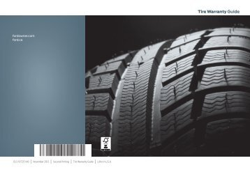 Ford Fusion Energi 2013 - Tire Warranty Printing 2 (pdf)
