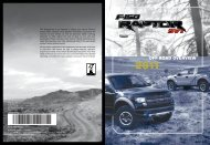 Ford F-150 6.2 Liter Lariat 2011 - F-150 Raptor Off Road Overview Quick Reference Guide Printing 1 (pdf)