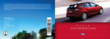 Ford Focus 2013 - Quick Reference Guide Printing 1 (pdf)
