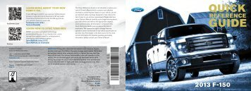 Ford F-150 2013 - Quick Reference Guide Printing 2 (pdf)
