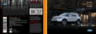 Ford Explorer 2014 - Quick Reference Guide Printing 1 (pdf)