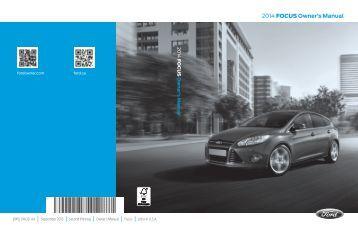 Ford Focus 2014 - Owner Manual Printing 2 (pdf)