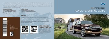 Ford Expedition 2014 - Quick Reference Guide Printing 1 (pdf)