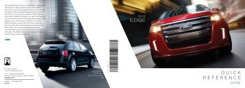 Ford Edge 2013 - Quick Reference Guide Printing 1 (pdf)