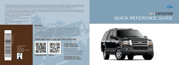 Ford Expedition 2013 - Quick Reference Guide Printing 1 (pdf)
