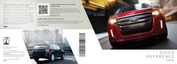 Ford Edge 2013 - Quick Reference Guide Printing 2 (pdf)