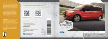 Ford Transit Connect 2015 - Quick Reference Guide Printing 1 (pdf)