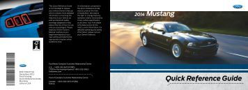 Ford Mustang 2014 - Quick Reference Guide Printing 1 (pdf)