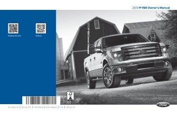 Ford F-150 6.2 Liter Lariat 2013 - Owner Manual Printing 3 (pdf)
