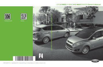 Ford C-MAX Energi 2013 - Owner Manual Printing 2 (pdf)