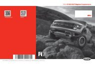 Ford F-150 6.2 Liter Lariat 2014 - F-150 Raptor Supplement Printing 1 (pdf)