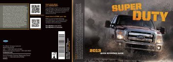 Ford F-550 2013 - Quick Reference Guide Printing 2 (pdf)