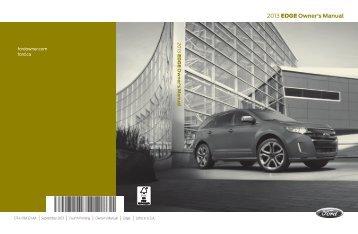 Ford Edge 2013 - Owner Manual Printing 4 (pdf)