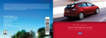 Ford Focus 2014 - Quick Reference Guide Printing 1 (pdf)