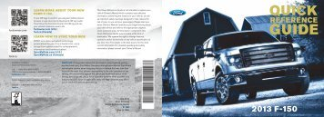 Ford F-150 2013 - Quick Reference Guide Printing 1 (pdf)