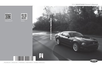 Ford Mustang 2014 - Owner Manual Printing 3 (pdf)