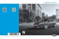 Ford Focus 2014 - Owner Manual Printing 3 (pdf)