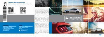 Ford Mustang 2015 - Quick Reference Guide Printing 1 (pdf)
