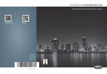 Ford Escape 2015 - Warranty Guide Printing 1 (pdf)