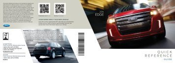 Ford Edge 2014 - Quick Reference Guide Printing 2 (pdf)