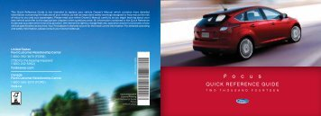 Ford Focus 2014 - Quick Reference Guide Printing 2 (pdf)