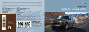 Ford Expedition 2015 - Quick Reference Guide Printing 1 (pdf)
