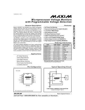 LM809/LM810 3-Pin Microprocessor Reset Circuits