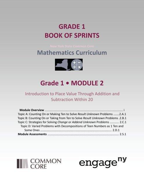 GRADE 1 BOOK OF SPRINTS Grade 1 • MODULE 2