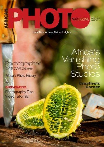 African Photo Magazine, 1st Issue!