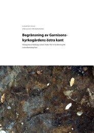 UV Rapport 2012:67 - Riksantikvarieämbetet, avdelningen för ...