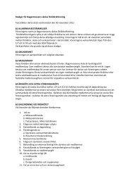 Stadgar - Bagarmossen Brotorps skolor - Föräldraföreningen