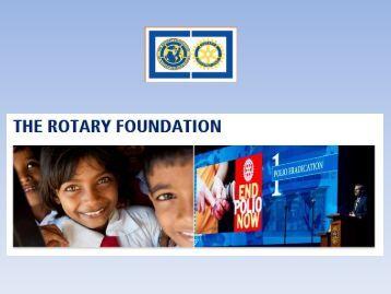 Presentasjon for TRF og endringer pr 1. juli 2013 - Distrikt 2305