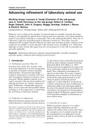 Advancing refinement of laboratory animal use - arsal
