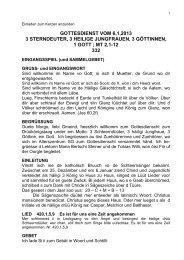gottesdienst vom 6,1,2013 3 sterndeuter, 3 heilige jungfrauen, 3 ...