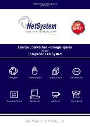Energie überwachen – Energie sparen EnergieSec ...  - NetSystem