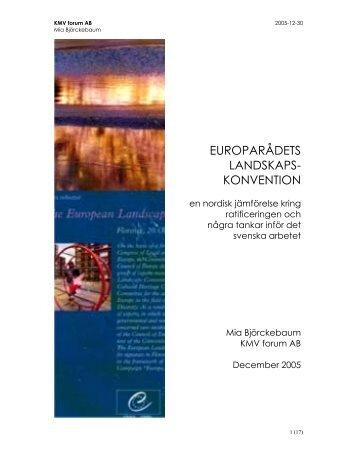 Europarådets landskapskonvention - Riksantikvarieämbetet