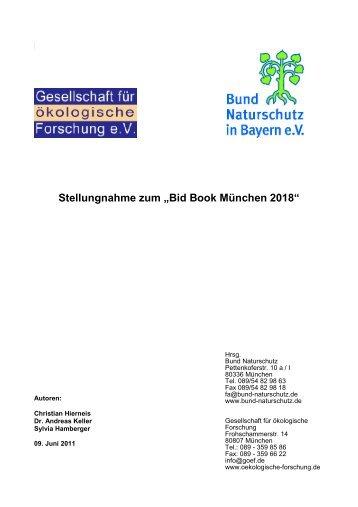 Bid Book München 2018 - Bund Naturschutz in Bayern eV