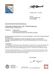 Truttikon, den 11.10.2012 An die Vereinsmitglieder ... - ASV Ossingen