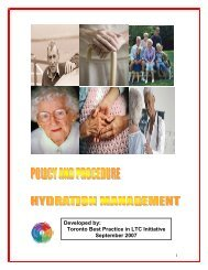 Policy & Procedure - Hydration Management - Long-Term Care Best ...