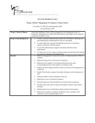 Continence Project Charter - Long-Term Care Best Practices Toolkit