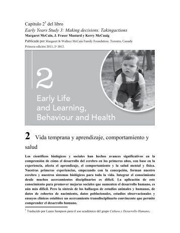 2 Vida temprana y aprendizaje, comportamiento y salud