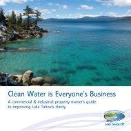 Commercial Brochure Clean Water is Everyone's ... - Tahoe BMP