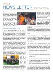 News Letter Crepaldi May 2012 - Life Share Network