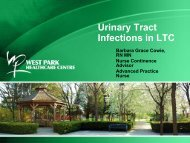 Urinary Tract Infections in LTC - Long-Term Care Best Practices Toolkit