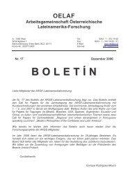 Boletín 17 - Lateinamerikaforschung Austria